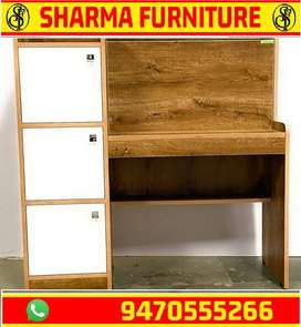 Computer table with three section drawer available at sharma furniture
