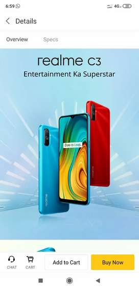 Realme c3 seal packed 4gb 64gb