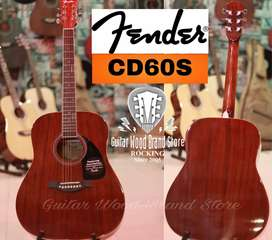 Fender CD60S professional guitar mohagony solid top dreadnought U.S.A