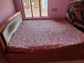 King size bed with kurl-on spring mattress for sale