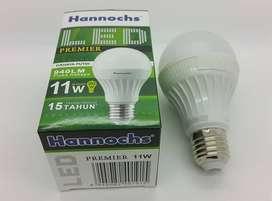 Lampu LED Hannochs 11 Watt Bulb setara 90 Watt ( cahaya PUTIH )