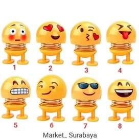 Mainan boneka per emoji ukuran besar untuk hiasaan