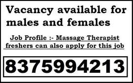 hiring males and females to work as a massage therapist