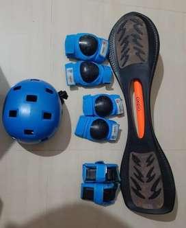 Wave board , helmet ,protection kit