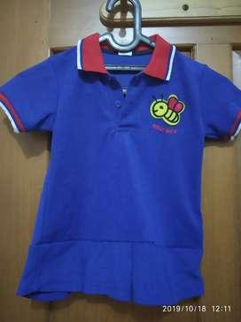 Kaos anak 5 tahun Mac Bee Biru Bagus Murah