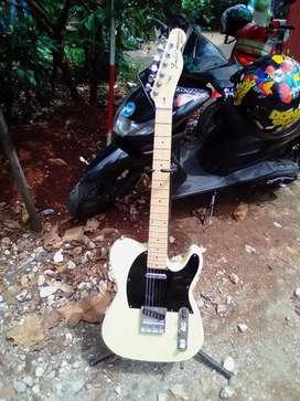 Gitar akustik elektrik fender telecaster