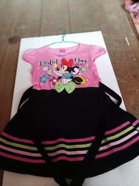 Jual murah dress pita anak 3-5 th warna pink