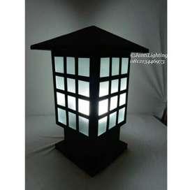 Promo lampu stand pilar model klasik minimalis dekorasi pagar murah
