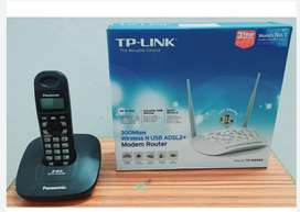 Wireless Router Modem + Cordless Phone