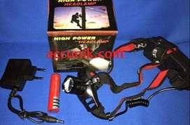Senter Kepala led zoom, 1 batre 18650 Rp.100.000,-