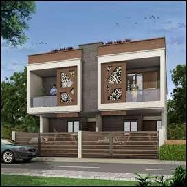 Duplex Premium Villa 115 Gaj plot just near main road