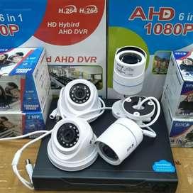CCTV AHD 4 titik full HD 1080p 4 mp komplit