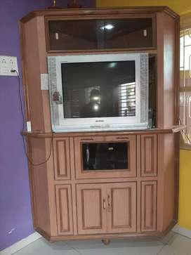 "TV corner cabinet with 29"" Samsung tv"