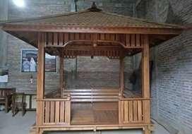 Gazebo kayu jati ukuran 2x2m