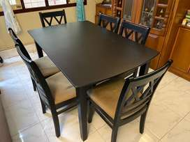 Wooden Dinning table with 6 chairs