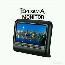 head rest  monitor clif on layar 9 in ( isi 2 pc)+pasang
