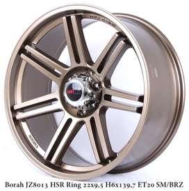 Velg HSR Ring 22 Pcd 6x1397 Cocok untuk mobil pajero