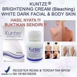 Kuntze Brightening Cream White Dark Facial and Body Skin Bleaching