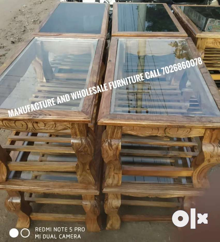 Wooden tipa with glass factory price good quality manufacture wholesal