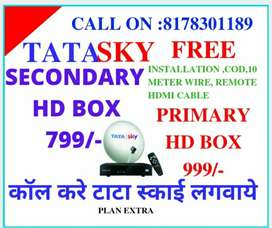 TATA SKY HD BOX FOR ALL LED TV, TATASKY FREE LIVE ON MOBILE AND LAPTOP