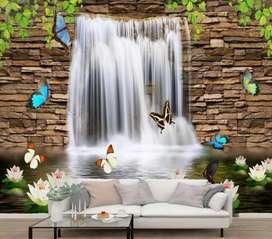 Profesional wallpaper custom dinding dan plafon