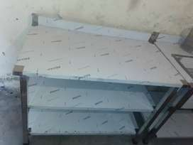 Working table new 2*4 with 3 shelf available