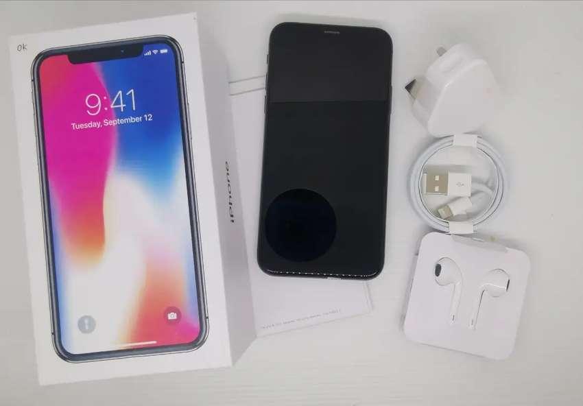 Iphone X 256gb grey - mulus - ori - no rekon 0