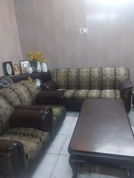 5 seater homemade sofa with table
