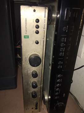 Norge stereo amplifer and BPL tower speakers