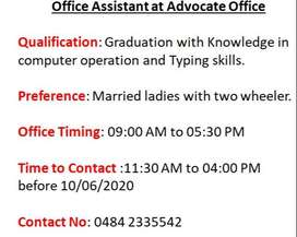 Office Assistant at Advocate Office