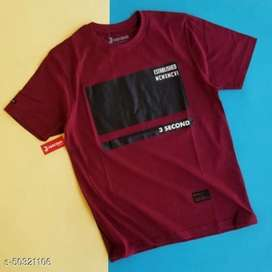Kaos 3second Maroon
