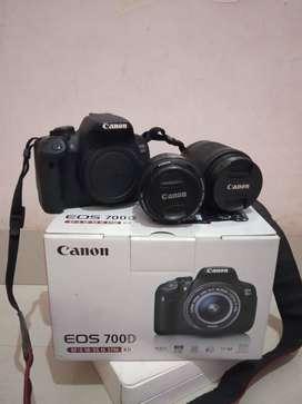 kamera dslr 700D + lensa fix