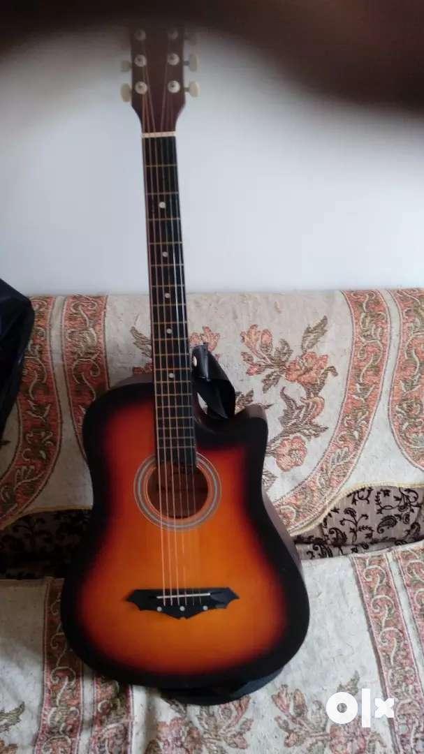acoustic orange gradient guitar 0