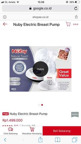 NUBY-Natural touch digital breastpump