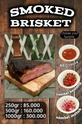 Sei sapi smoke brisket daging asap open resel bandung
