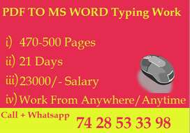 Secure Typing Job Offer Opportunity -- Good Income