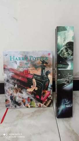 Dijual novel harry potter book 1 (versi inggris) bonus tongkat harry
