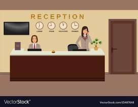 Hotel receptionist , Front office , manager