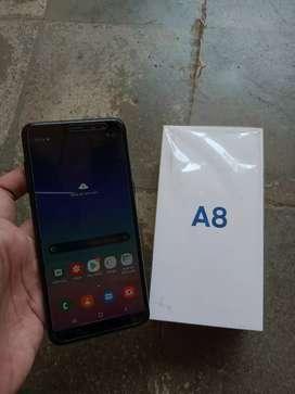 Samsung A8 2018 fullset masih garansi mulus
