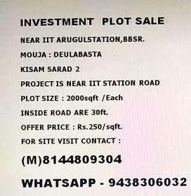 INVESTMENT PLOT Rs. 250/sqft. Near IIT ARUGUL STATION, Bhubaneswar