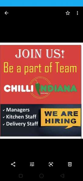 managers , restaurant managers..kitchen staff, delivery boy