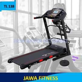 Treadmill elektrik motor 2 HP TL138 Sudah Auto Incline Canggih