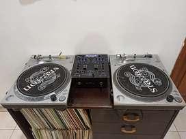 DJ Equipment - 2 Turntable dan 1 Mixer