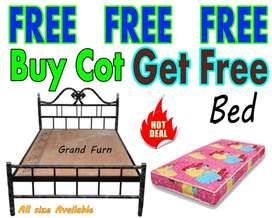 Wooden Steel Fancy cot  Single Double Queen King Size Bed/Mattress