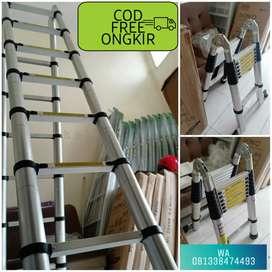 PROMO tangga lipat telkom 5m Anti slip dan kokoh