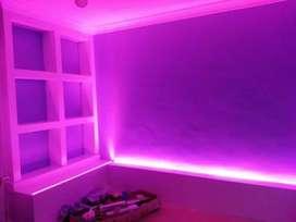 Kamar Cantik Dengan Led Strip Seperti Iklan.