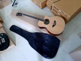 Gitar epipone akustik elektrik model apx 500ii free tas tebal