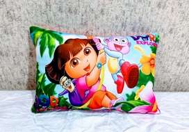 Cartoon Printed Velvet Kids Pillows