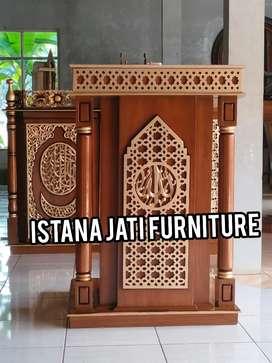mimbar masjid dan mushola bahan mimbar jati masjid