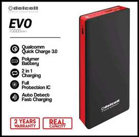 Powerbank Delcell Evo 10000 Mah 37Wh Qualcomm Quick Charge 3.0 QC